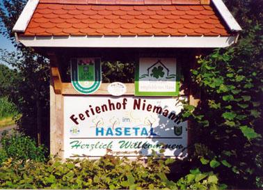 Schild Ferienhof Niemann