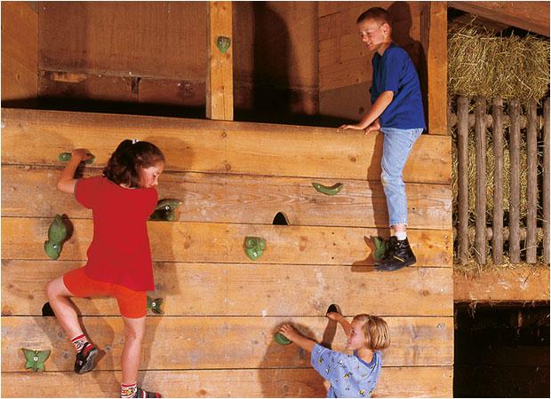 Indoor Kletterwand im Landhaus Schulte-Goebel