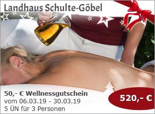 Landhaus Schulte-Göbel - 50,- € Wellnessgutschein