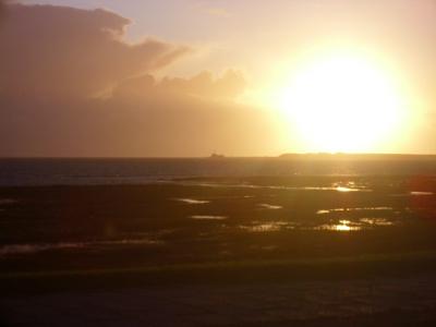 Sonnenuntergang auf dem Ferienhof Hayenort