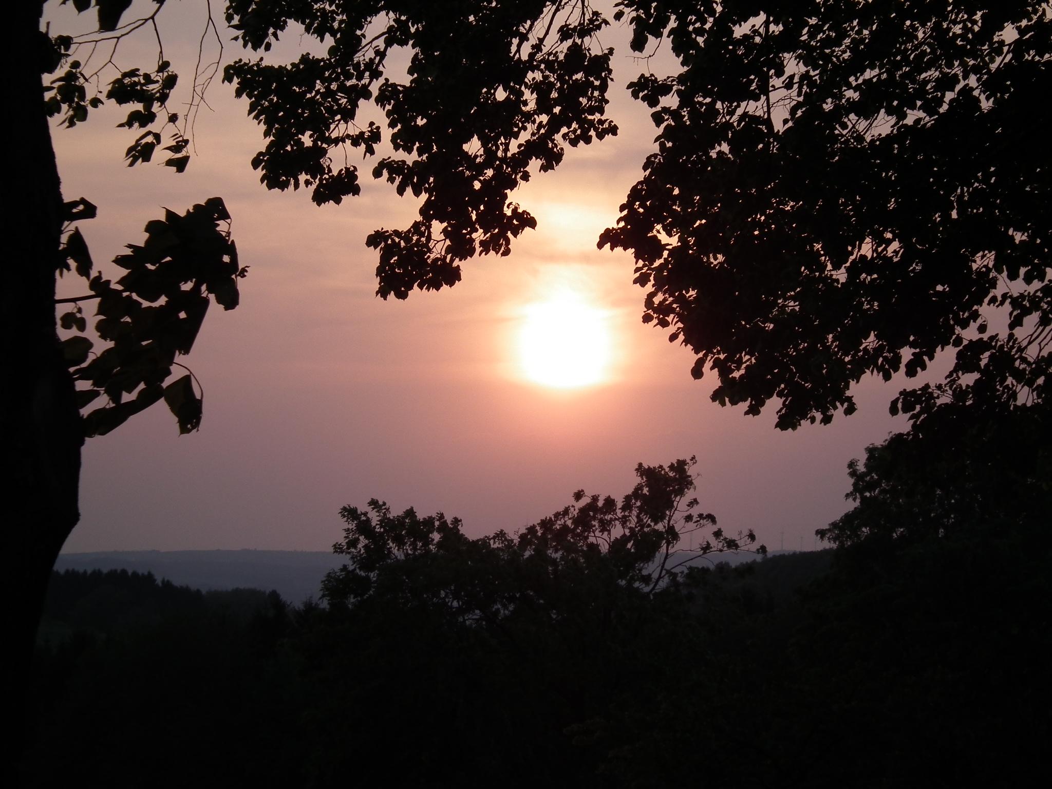 Sonnenuntergang auf dem Ferienhof Pütz