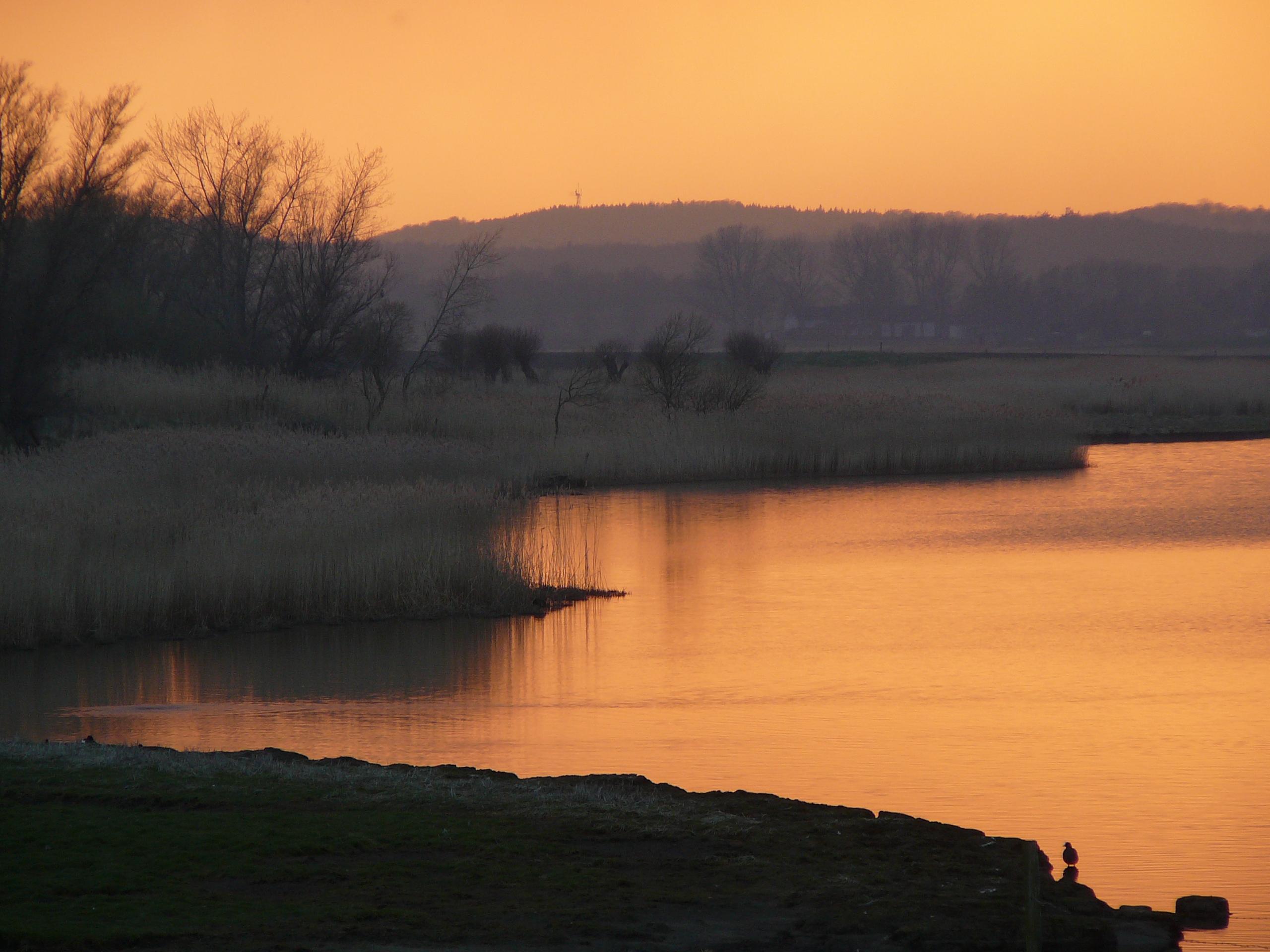 Sonnenuntergang auf dem Ferienhof Schnoor