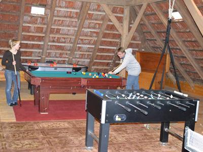 Spielzimmer Kicker, Billiard und mehr