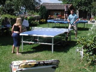 Tischtennis auf dem Wolfeicherhof