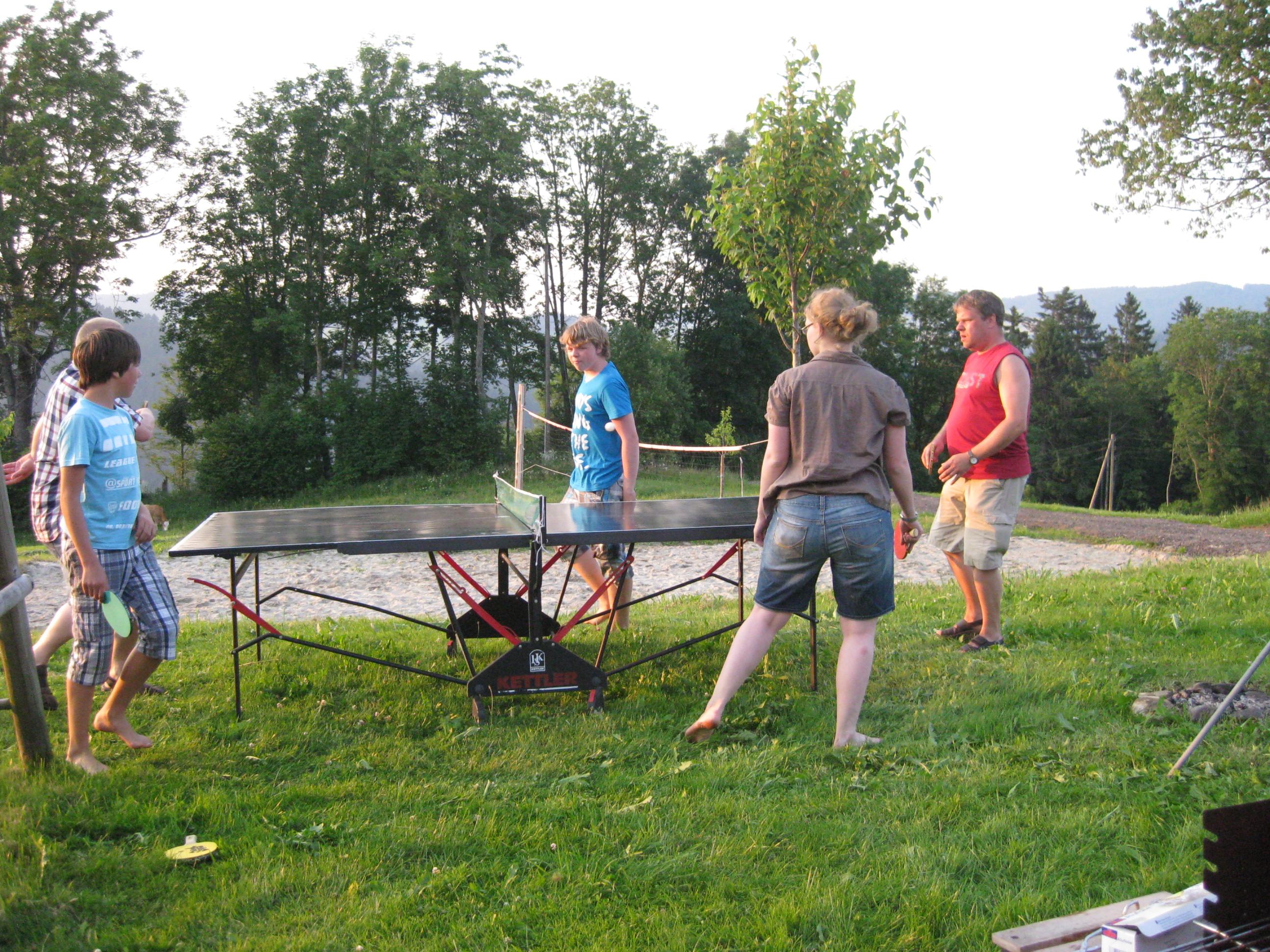 Tischtennis spielen auf dem Michelthomilishof
