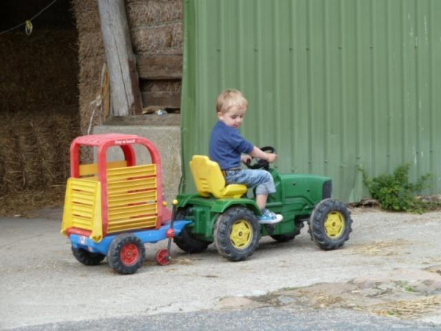 Traktorfahrt auf dem Liethshof für die Kleinsten
