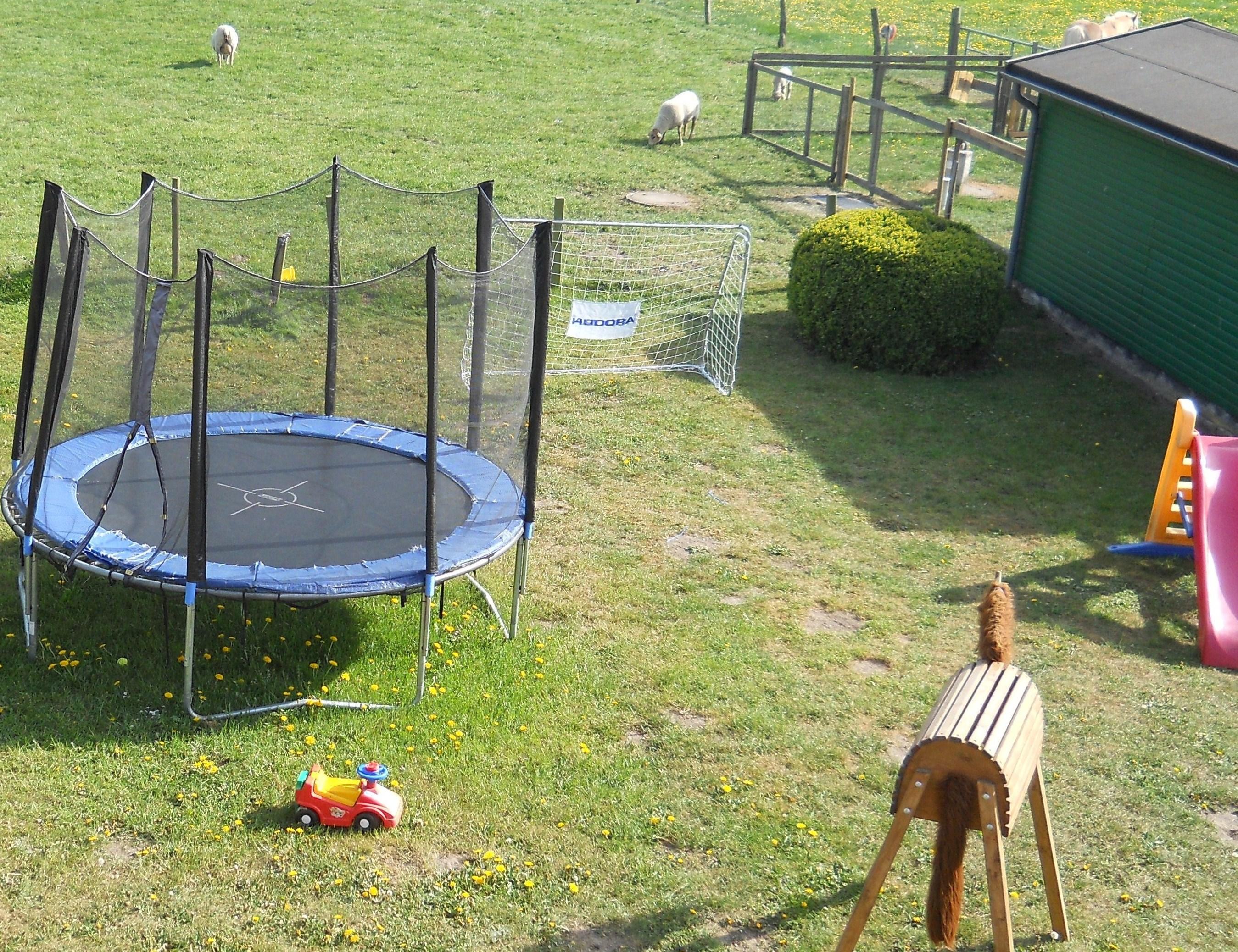 Trampolin auf dem Ferienhof Stobbe