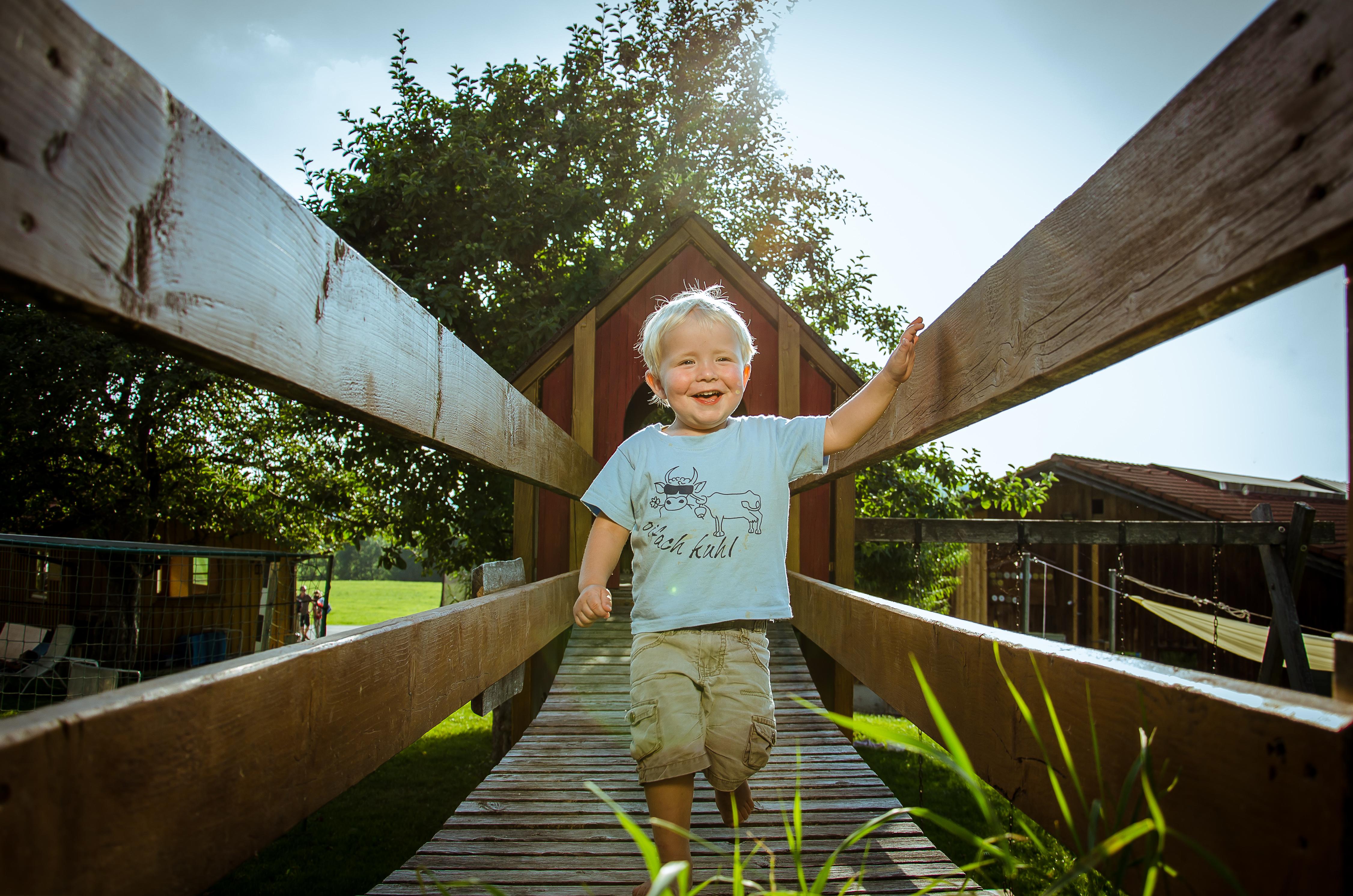 Viel Platz für Kinder auf dem Ferienhof Baur