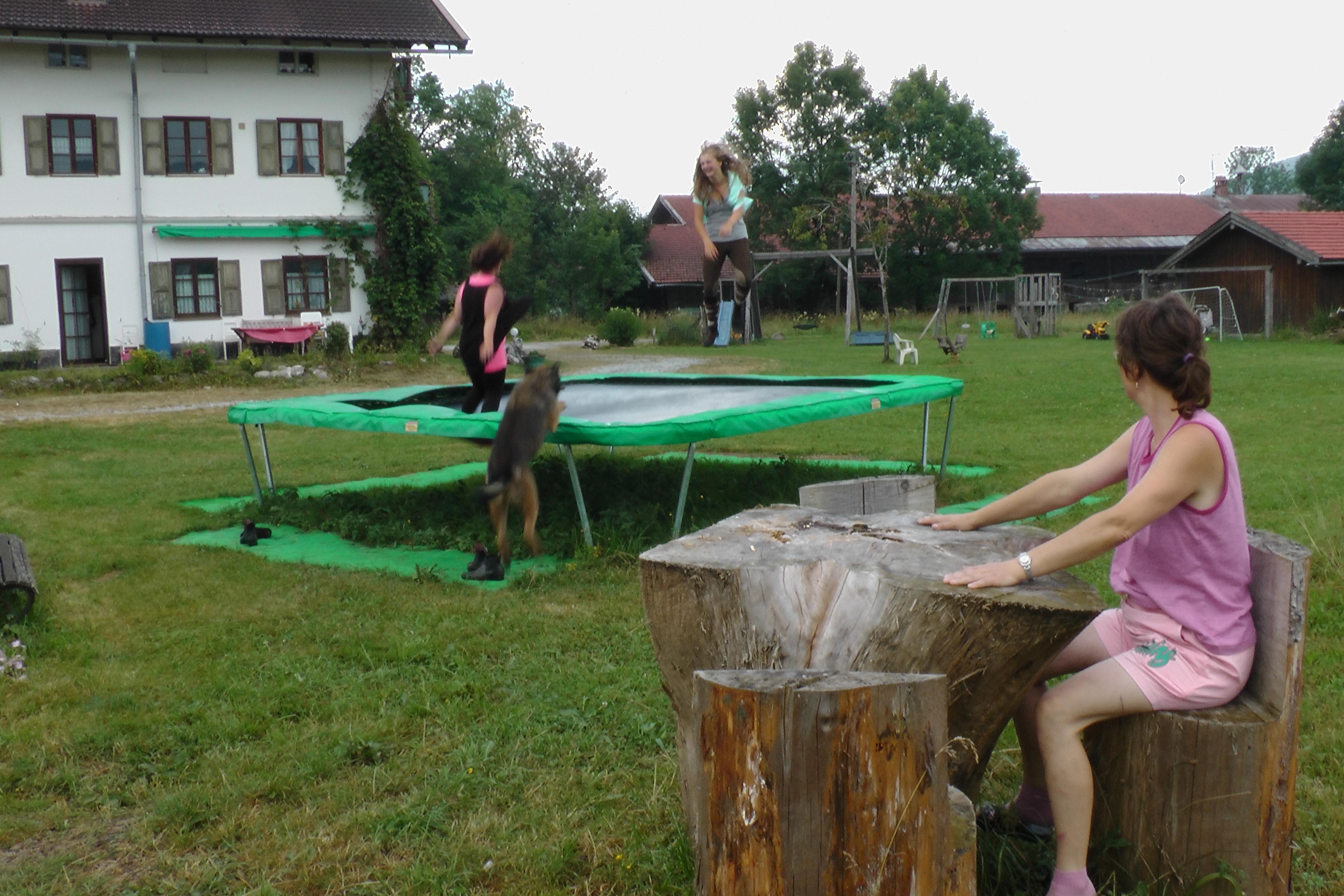 Viel Platz zum Spielen auf dem Hintergraberhof