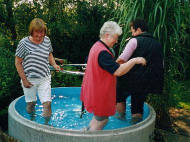 Wassertreten nach Pfarrer Kneipp