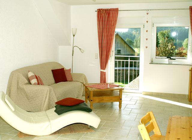 Wohnbereich der Wohnung Romanshorn vom Ferienhof Sauter