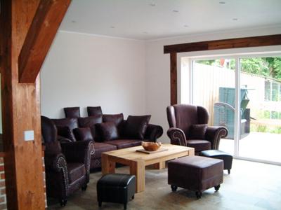 Wohnzimmer einer Ferienunterkunft