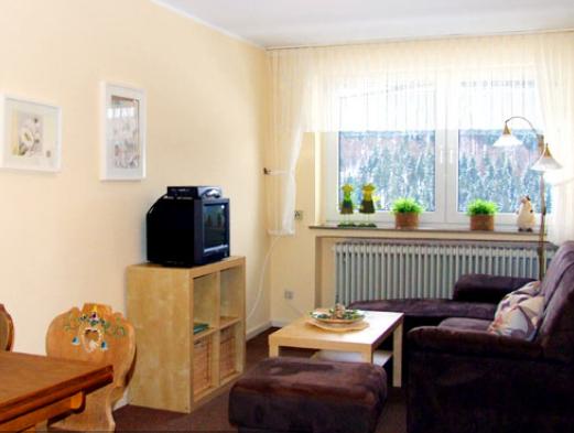 Wohnzimmer Ferienwohnung Kornkammer