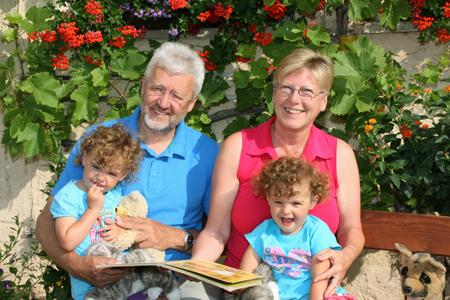 Zeit verbringen mit Eltern und Großeltern