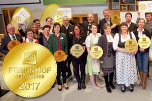 DLG verleiht den Titel Ferienhof des Jahres 2017