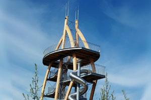 """Persönlicher Tipp von Schmidts Ferienhof: Der außergewöhnliche Aussichtsturm """"Noahs Segel"""" in der Thüringer Rhön"""