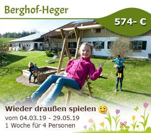 Endlich wieder draußen spielen - Berghof-Heger