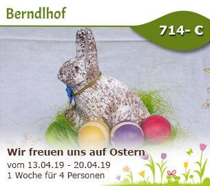 Wir freuen uns auf den Osterhasen - Berndlhof
