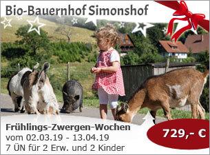 Bio-Bauernhof Simonshof - Frühlings-Zwergen-Wochen