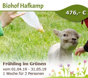 Eine Woche Frühling im Grünen - Biohof Hafkamp