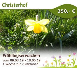 Frühlingserwachen in den Bergen - Christerhof