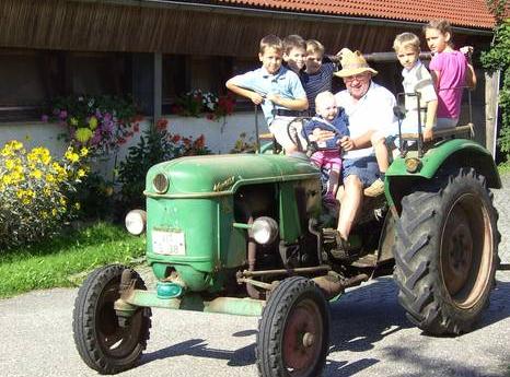 Traktorfahrt mit Bauer Alois