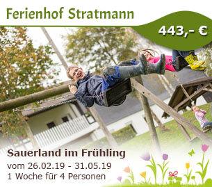 Sauerland im Frühling - Ferienbauernhof Stratmann