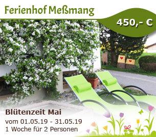 Blütenzeit Mai am Ferienhof Meßmang