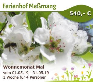 Wonnemonat Mai am Ferienhof Meßmang