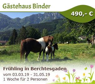 Frühlingserwachen im Berchtesgadener Land - Gästehaus Binder