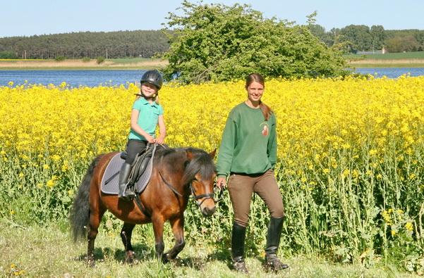 geführtes Ponyreiten auf dem Erlebnis-Bauernhof Kliewe