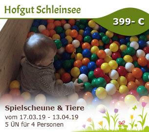 Spielscheune & Tiere - was will man mehr - Hofgut Schleinsee