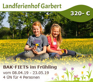 BAK-FIETS im Frühling - Landferienhof Garbert