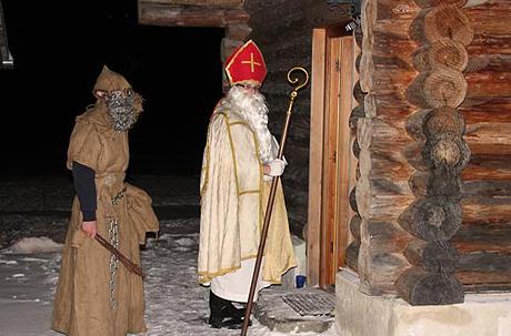 Hl. Nikolaus klopft an die Tür