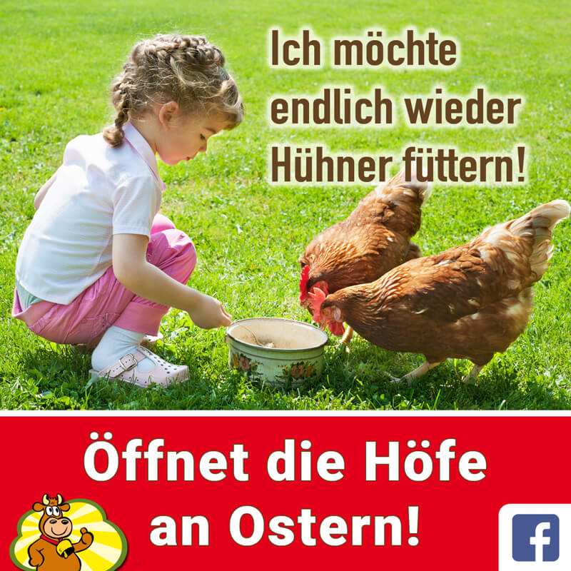 Öffnet die Höfe an Ostern!