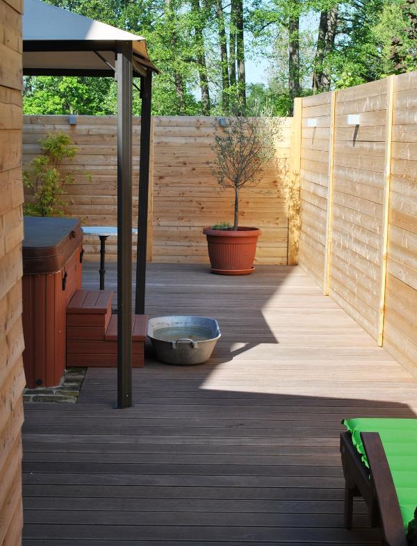 Außenbereich der Sauna