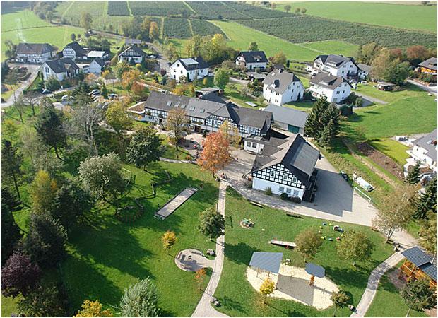 So sieht Landhaus Schulte-Goebel von oben aus