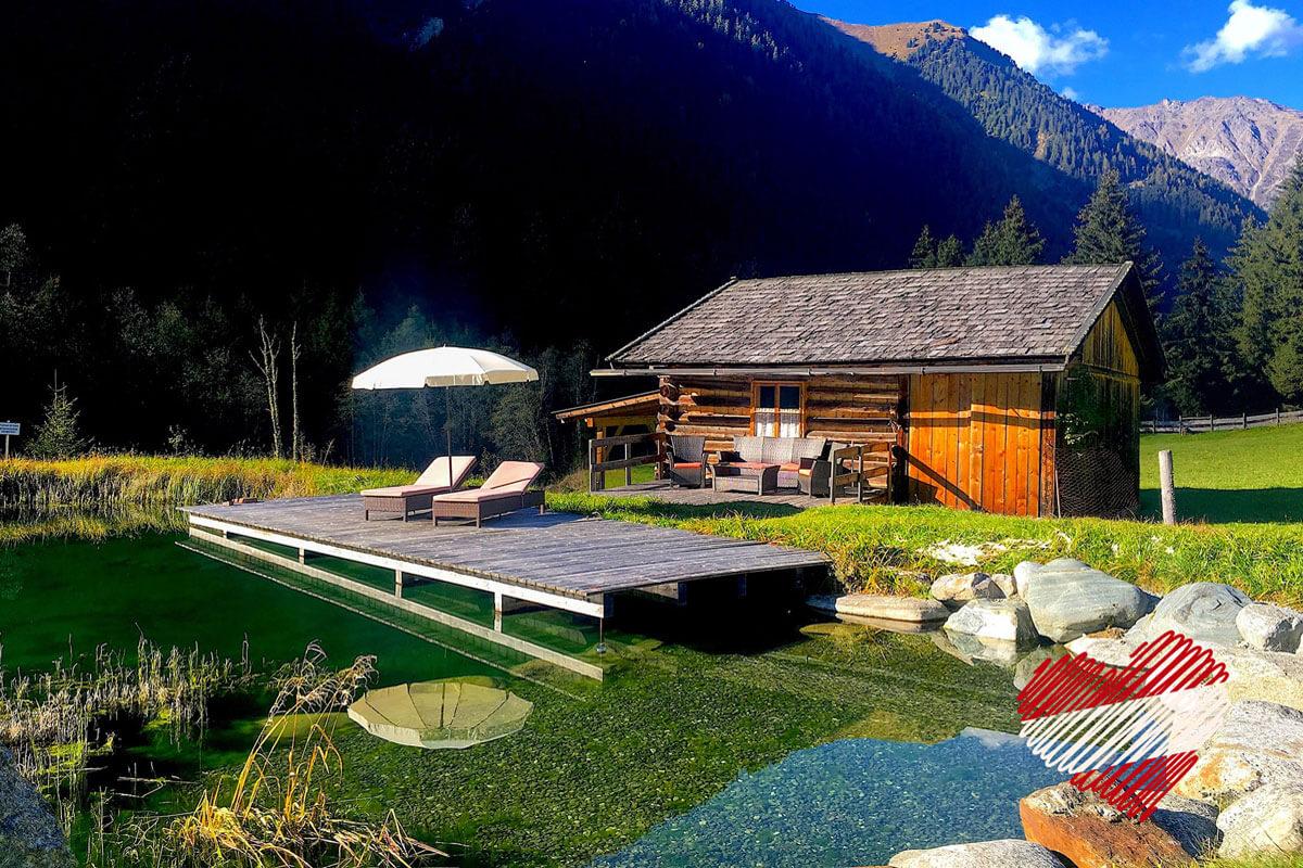 Sellraintal/Tirol - Die Bastlshofhütte am wunderschönen Sepplsee