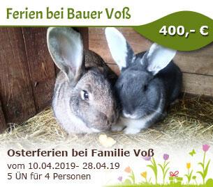 Osterferien bei Familie Voß - Ferien bei Bauer Voß