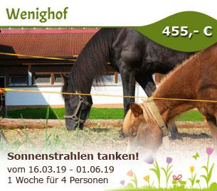 Sonnenstrahlen tanken - Familienferienhof Wenighof