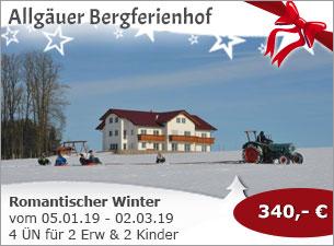 Allgäu Bergferienhof - Romantischer Winter