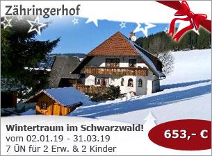 Zähringerhof - Wintertraum im Schwarzwald!